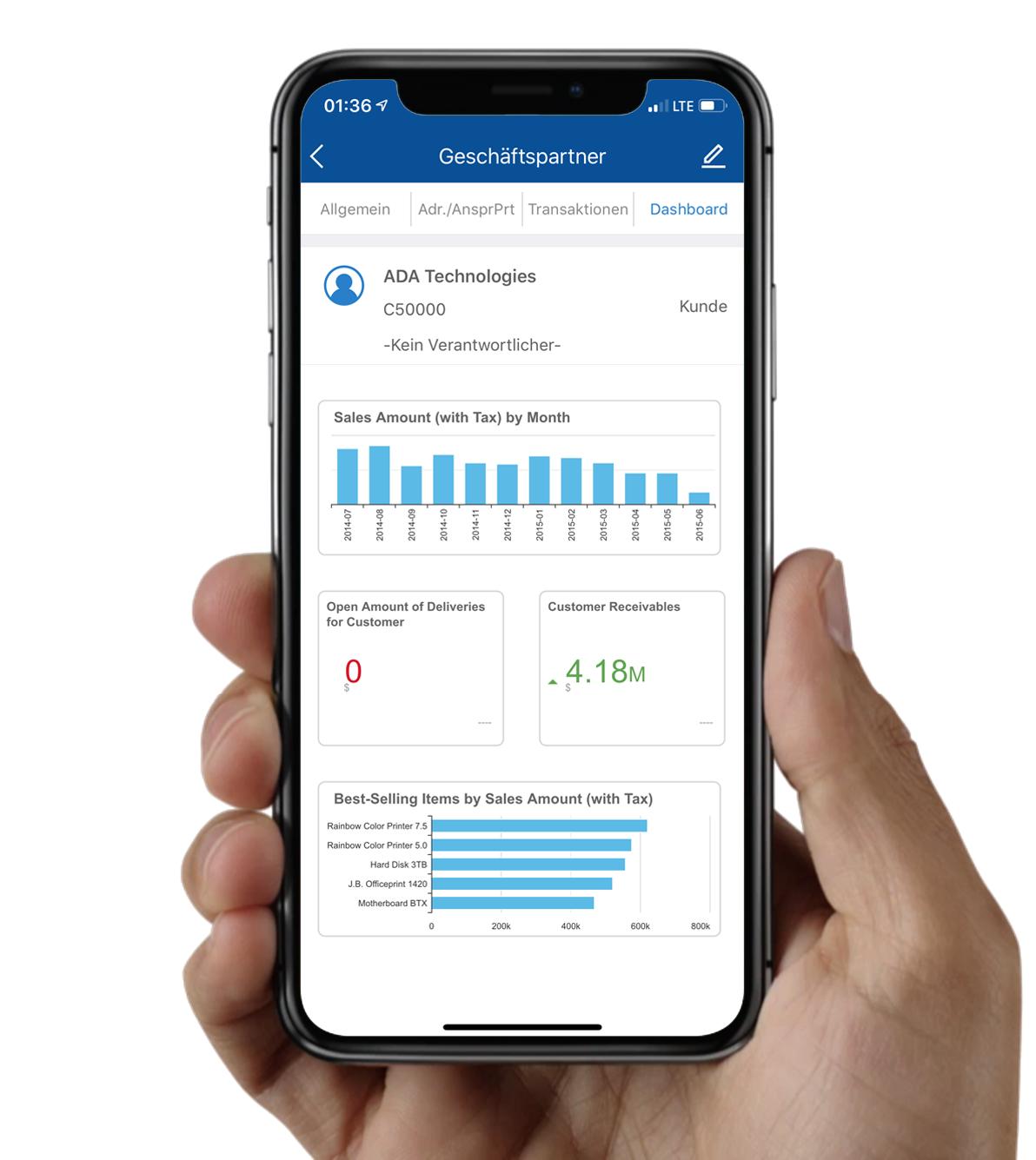 SAP Business One Sales App für Vertrieb und CRM
